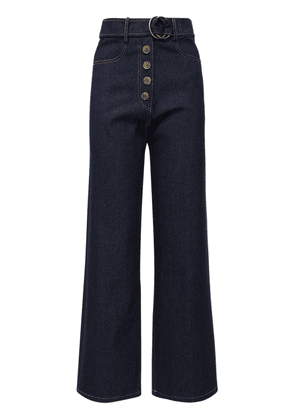 Emily Wide Leg Cotton Denim Jeans