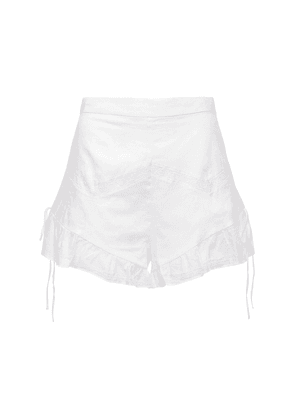 Caprice Ruffled Cotton Shorts