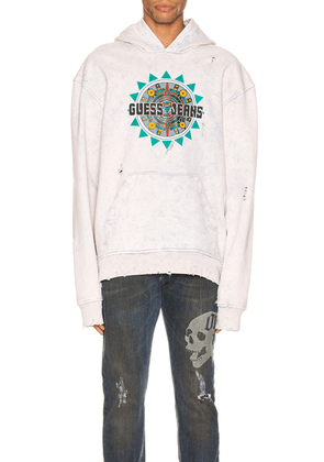 Alchemist x Guess Hoodie in Dirty Cream - Neutral,Ombre & Tie Dye. Size XL (also in ).