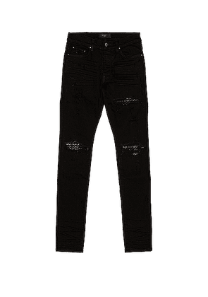 Amiri Quilted Leather Jean Animation in Black - Black. Size 31 (also in ).