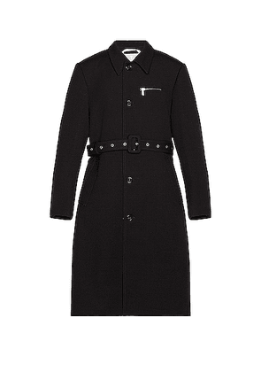 Raf Simons Slim Fit Trench Coat With Zipped Pockets in Dark Navy - Black. Size 50 (also in ).