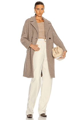Harris Wharf London Dropped Shoulder Double Breast Coat in Taupe - Neutral. Size 38 (also in 42).