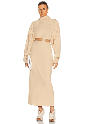Lemaire Foulard Dress in Almond Milk - Neutral. Size M (also in S,XS).