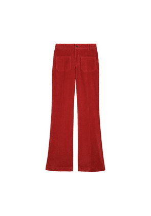Cotton Dompay Flare Trousers