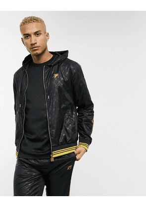 Fila Dublin jacket with gold taping in black