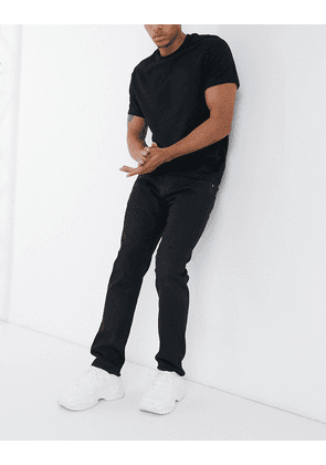 Edwin ED55 regular tapered fit jeans in black denim