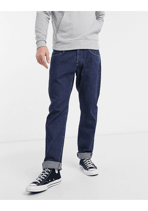 Edwin ED55 regular tapered fit jeans in rinsed denim-Blue