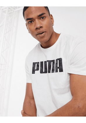 Puma short sleeve logo t-shirt in white