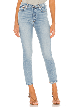 RE/DONE 90s High Rise Ankle Crop in Blue. Size 23,27,28,29,30.