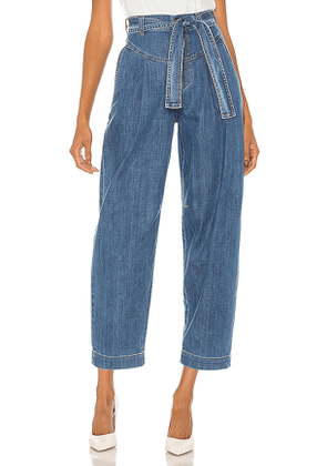 See By Chloe Signature Blue Denim Trousers in Blue. Size 38/6,40/8.