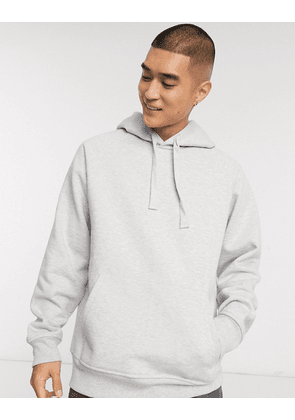 ASOS WHITE oversized hoodie in grey marl