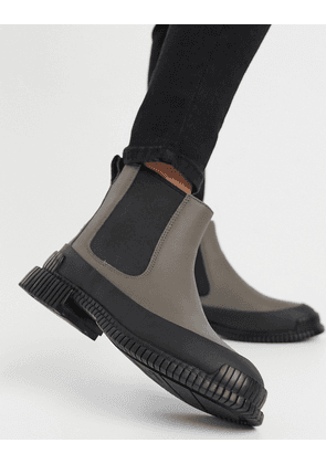 Camper Pix chunky leather chelsea boots in grey
