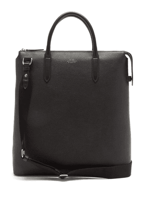 Smythson - Ludlow Grained-leather Tote Bag - Mens - Black
