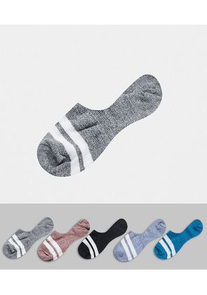 ASOS DEISGN 5 pack liner socks in twisted yarns-Multi
