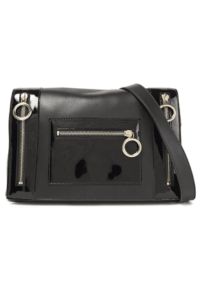 Boutique Moschino Smooth And Patent-leather Shoulder Bag Woman Black Size --