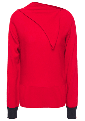 Cedric Charlier Draped Wool Sweater Woman Red Size 38