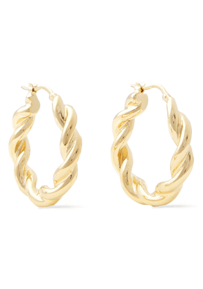 Jw Anderson Gold-tone Hoop Earrings Woman Gold Size --