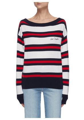 être Claudia embroidered stripe sweater
