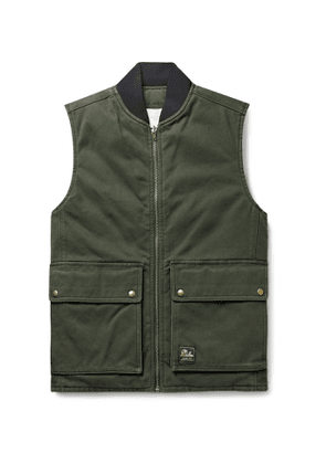 Aimé Leon Dore - Reversible Washed Cotton-Canvas and Quilted Nylon Gilet - Men - Green