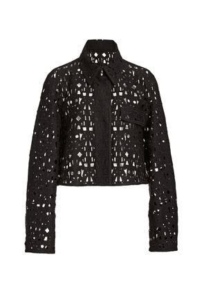 Akris Ladina Eyelet Jacket