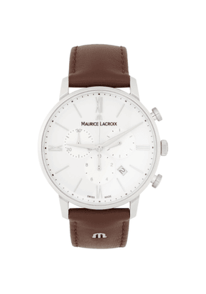 Maurice Lacroix White and Brown Eliros Chrono Watch