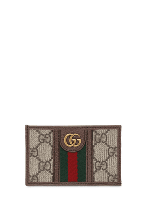 Ophidia Gg Canvas & Leather Card Holder