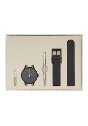 Instrmnt Gunmetal and Black Rubber Everyday Watch