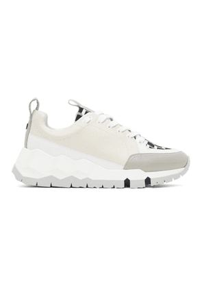 Pierre Hardy White and Black Street Life Low-Top Sneakers