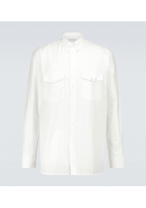 Oxford cotton long-sleeved shirt