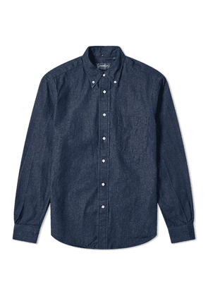 Gitman Vintage Button Down Dark Denim Shirt