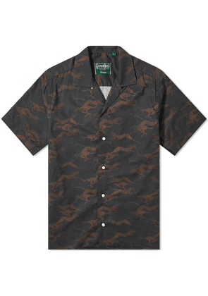 Gitman Vintage Short Sleeve Camp Collar Cheetah Poplin Shirt