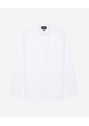 The Kooples - White cotton shirt with wing collar - MEN