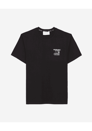 The Kooples - Black cotton T-shirt with rubber logo - MEN