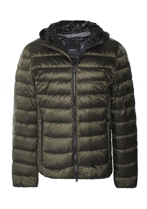 Geox Water-Repellent Down Quilted Dereck Jacket Colour: Green