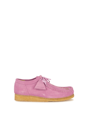 Palm Angels X Clarks Wallabee Lilac Suede Shoes