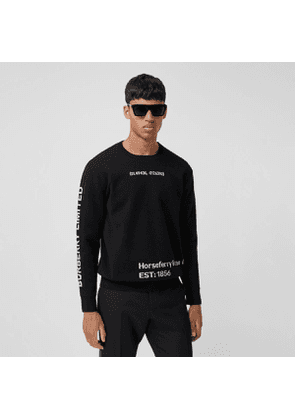 Burberry Location Wool Blend Jacquard Sweater, Black