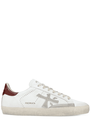 Steven Leather Low-top Sneakers
