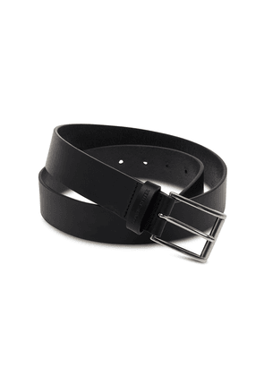 Black Vegetable Tanned Leather Belt