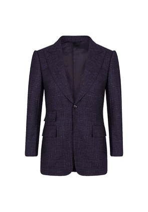 Blue Single-Breasted VBC Houndstooth Sports Jacket