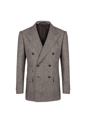 Grey VBC Flannel Prince of Wales Double Breasted Sports Jacket