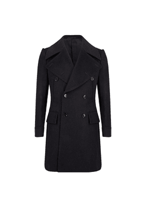 Navy Blue Wool Great Peacoat