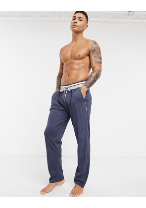 Greentreat lounge trousers in navy marl