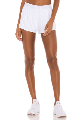 ALALA Terry Short in White. Size M,S,XS.