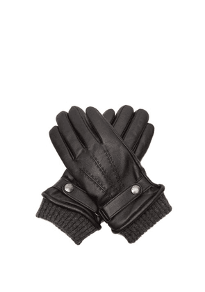 Dents - Henley Touchscreen-compatible Leather Gloves - Mens - Black
