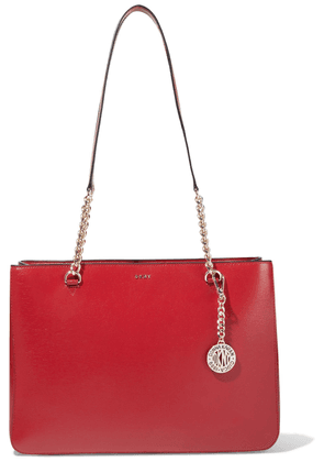 Dkny Bryant Park Textured-leather Tote Woman Red Size --