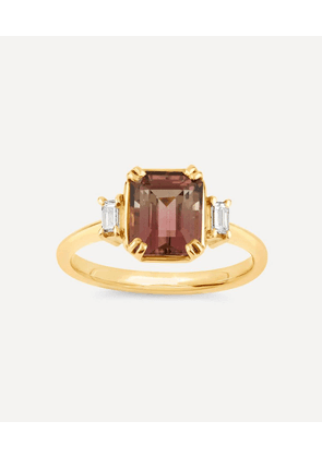 Gold Mini Mae West Tourmaline and Diamond Ring