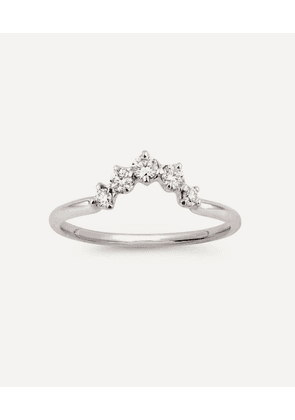 White Gold Lily Diamond Crown Ring