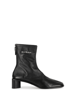 Acne Studios 45 Black Leather Ankle Boots