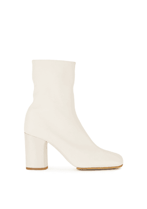 Acne Studios 85 Ecru Leather Ankle Boots
