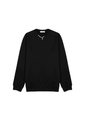 Givenchy Black Chain-embellished Cotton Sweatshirt